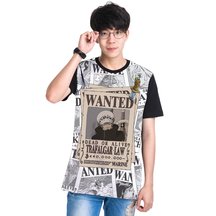 T-Shirt Onepiece Wanted Law (DOP-552-BK)