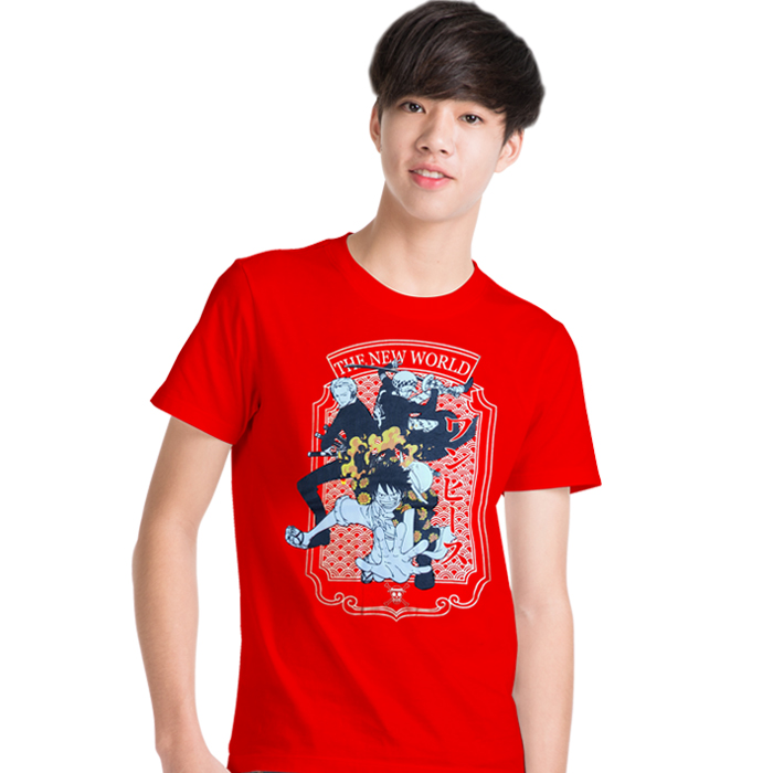 T-Shirt Onepiece Strawhat Crew&Law Red