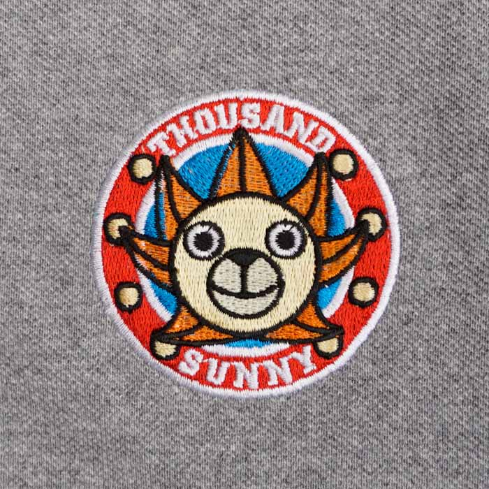Polo Onepiece Thousand Sunny สีเทา