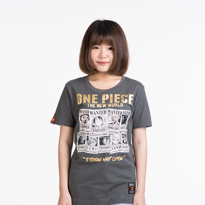 T-Shirt Onepiece Wanted สีเทา