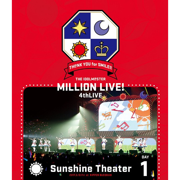 THE IDOLM@STER MILLION LIVE! 4th LIVE TH@NK YOU for SMILE! LIVE Blu-ray Day1