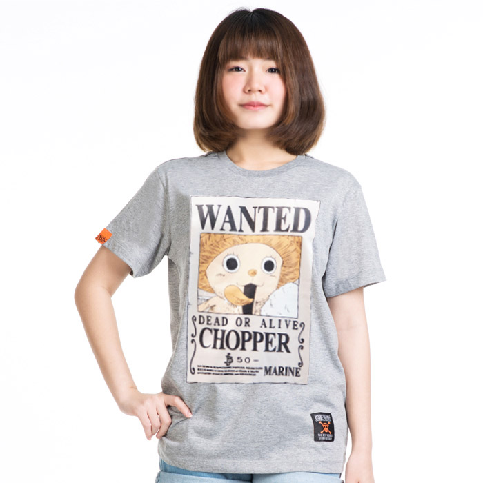 T-shirt Wanted Chopper สีเทา