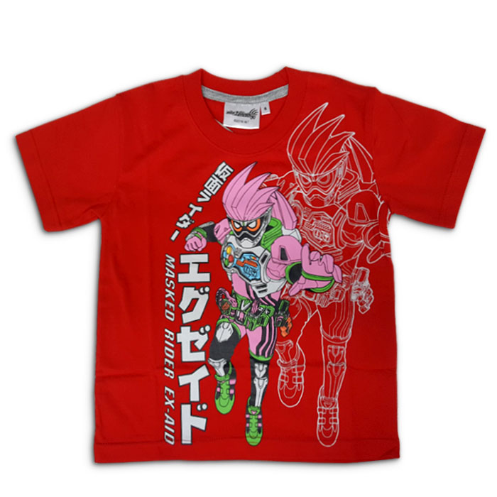 T-Shirt Kid Masked Rider EX-AID Red