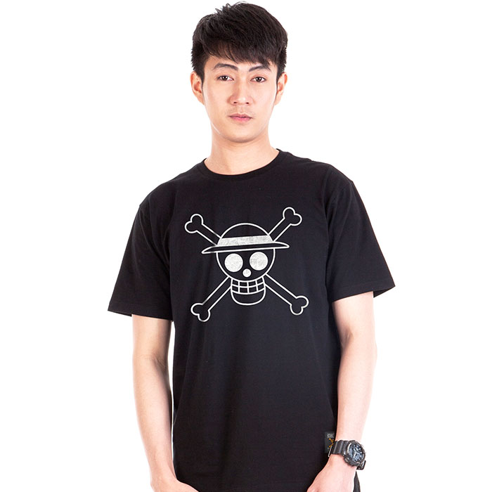 T-Shirt Icon Luffy Silver