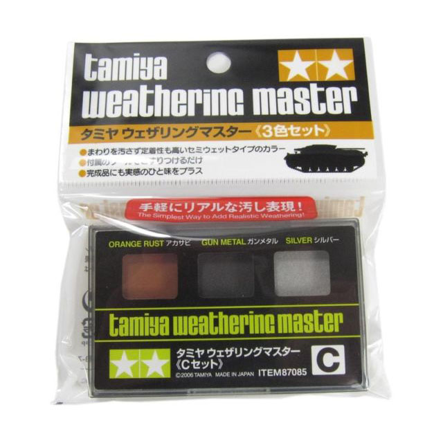 Weathering master C set (Orange rust / Gun metal / Silver )