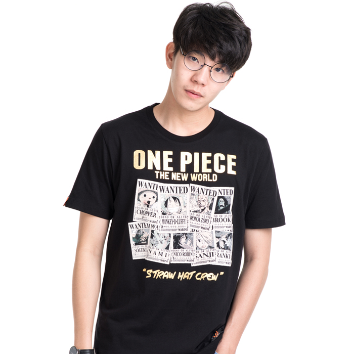 T-Shirt Onepiece Wanted สีดำ
