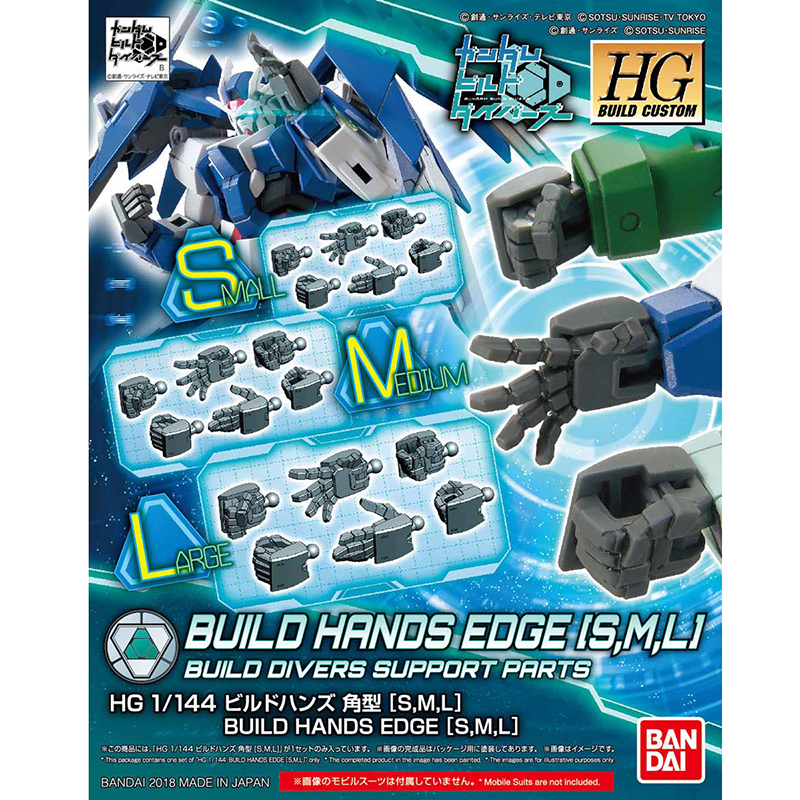 HGBC 1/144 BUILDHANDS EDGE [S,M,L]