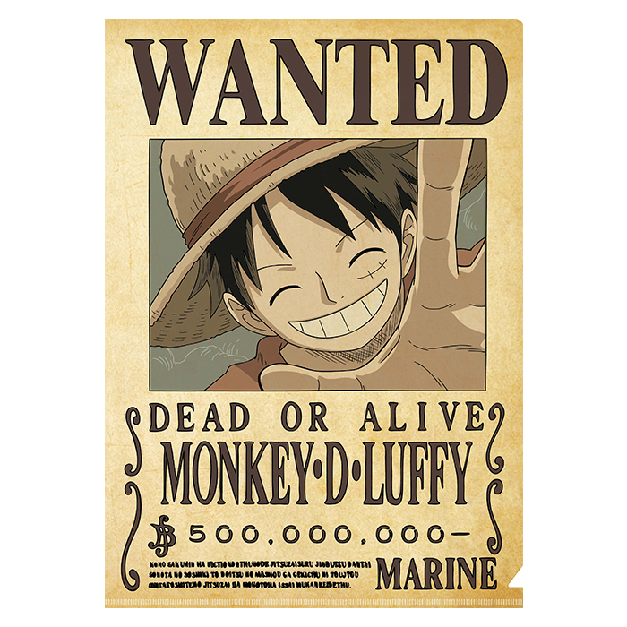 Folder One Piece : Wanted Luffy
