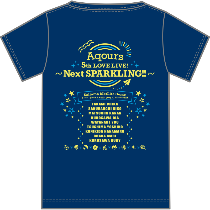 Love Live! Sunshine!!  Aqours 5th LoveLive! ~Next SPARKLING!!~ T Shirt(One Size)