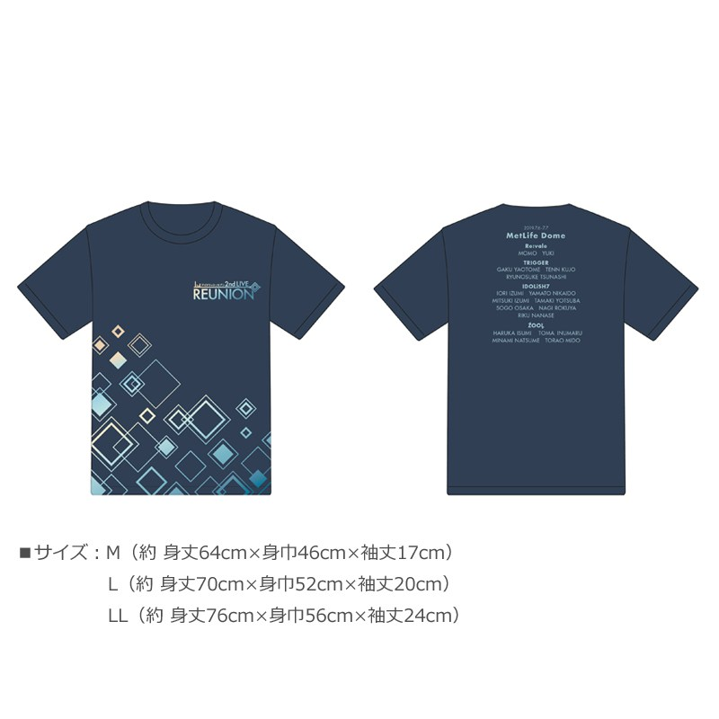 IDOLiSH7 2nd LIVE REUNION - LOGO T-shirt DARK