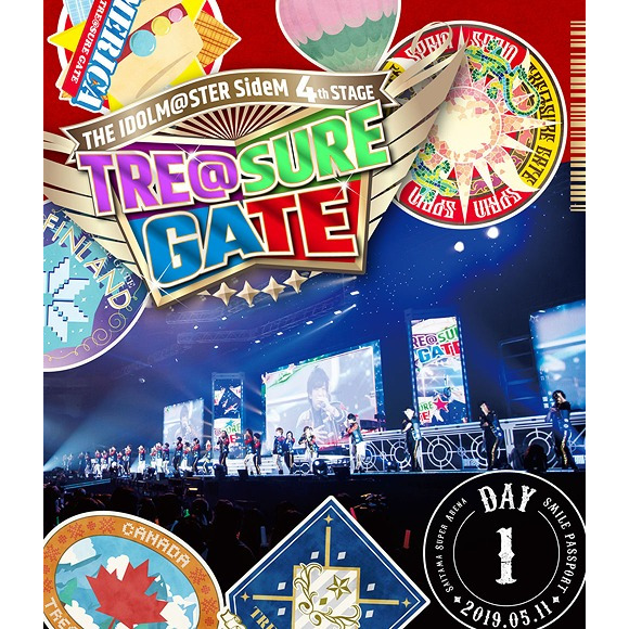 THE IDOLM@STER SideM 4th Stage - TRE@SURE GATE - Live Blu-ray [Smile Passport] [Day 1 / Regular Edition]